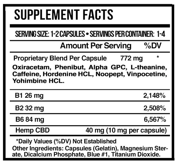 Supplement Facts - CBD Capsules