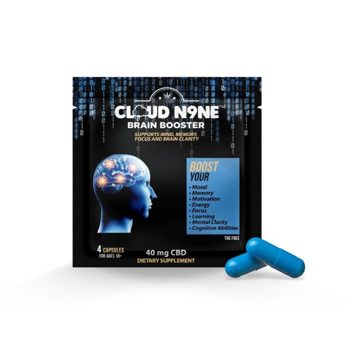 CBD Edibles - Cloud N9ne Brain Booster (10mg CBD per capsule – 40mg CBD per pack)