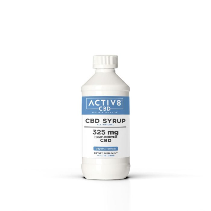 CBD Syrup - ACTIV8 SYRUP (Daytime Formula) All-Natural – (325mg CBD Per Bottle)