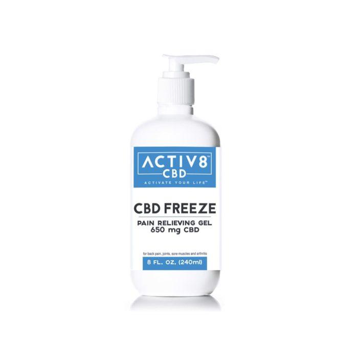 CBD Topical - ACTIV8 CBD FREEZE (Pain Relieving Gel | Extra Strength) – 650mg CBD Per Bottle