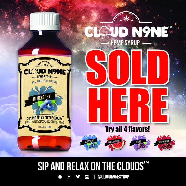 Cloud9 CBD syrup sold here