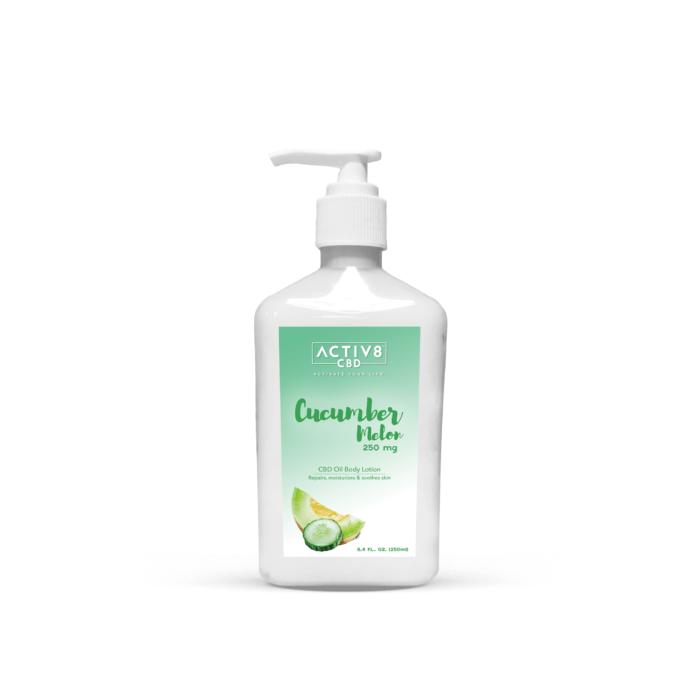 CBD Skin Care - ACTIV8 CBD Lotion – Cucumber Melon – 250mg CBD