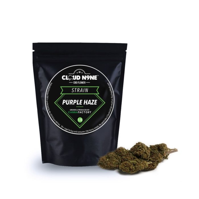 Cloud N9ne CBD Flower – Strain: Purple Haze