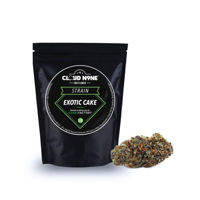 Cloud N9ne CBD Flower – Strain: Exotic Cake