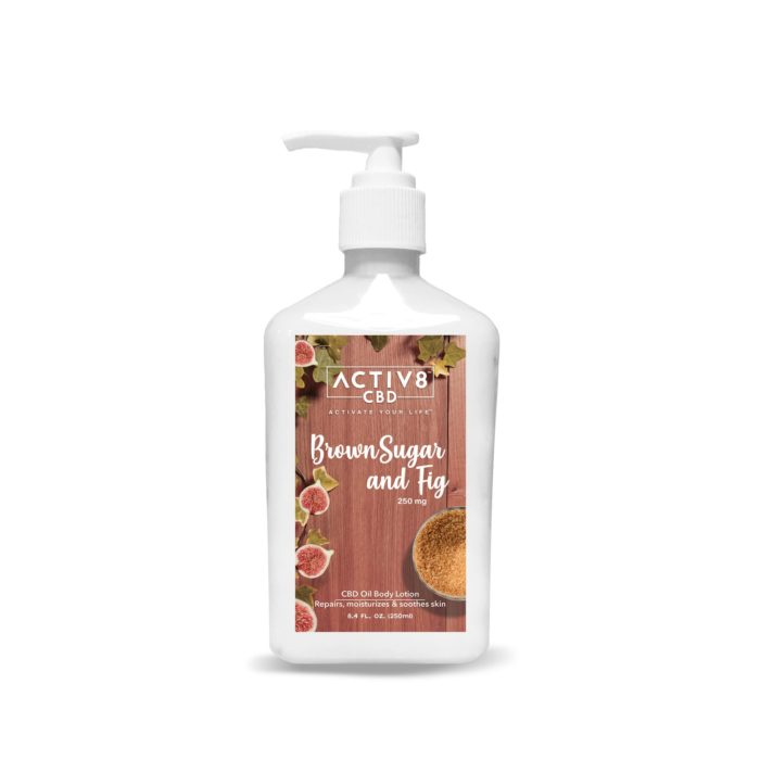 CBD Skin Care - ACTIV8 CBD Lotion – Brown Sugar and Fig – 250mg CBD
