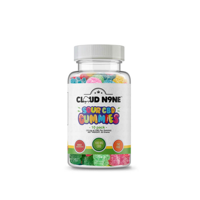 Cloud N9ne CBD Sour Gummies - Day Time - 10 Pack (10mg CBD per gummy) - Buy Legals Meds best online CBD store