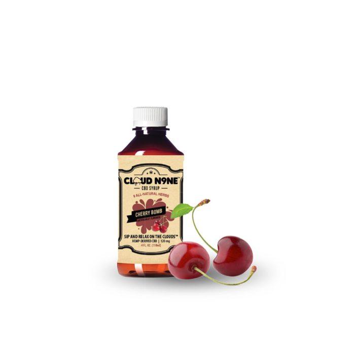CLOUD N9NE SYRUP - Cherry Bomb - (120mg CBD per Bottle)