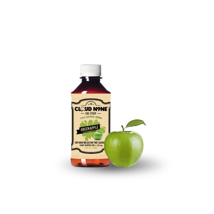CBD Syrup - CLOUD N9NE SYRUP – Green Apple – (120mg CBD per Bottle)
