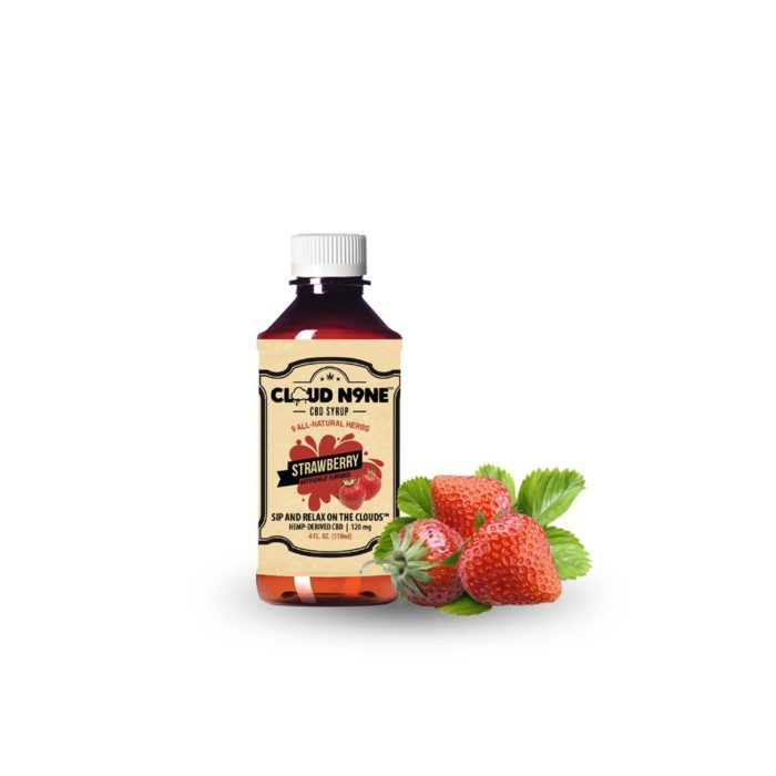 CBD Syrup - CLOUD N9NE SYRUP – Strawberry – 120mg CBD per Bottle