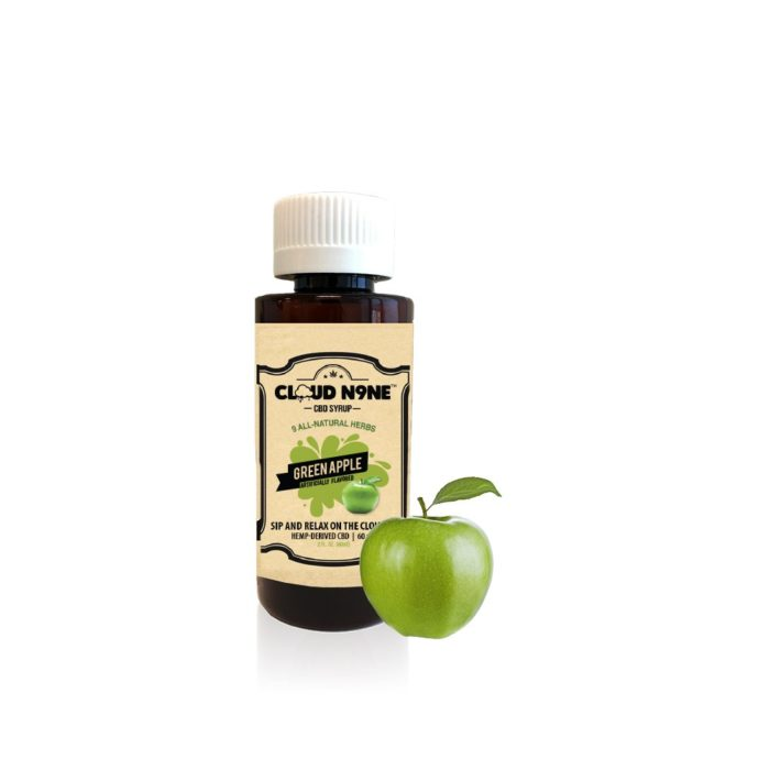 CBD Syrup - CLOUD N9NE SYRUP – Green Apple – 60mg CBD per Bottle
